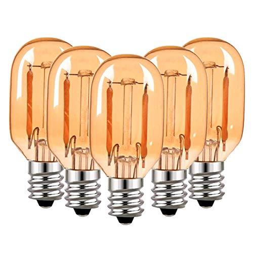 Preisvergleich Produktbild T22 LED Glühbirne Bernstein Glas Vintage Edison Röhrenbirnen E14 220V Glühbirne,  10 Watt äquivalent 2200K Ultra Warm White Birnen,  100 Lumen nicht dimmbar,  5er Pack