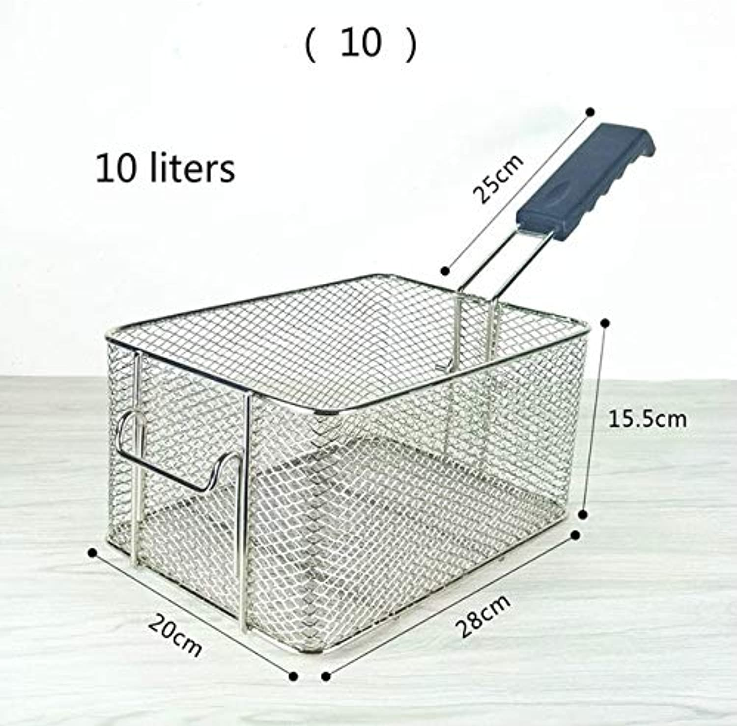 28 Options Stainless Steel Frying Screen French Fries Frame Square Filter net encrypt Colander Shaped Basket fryers Meshed   10