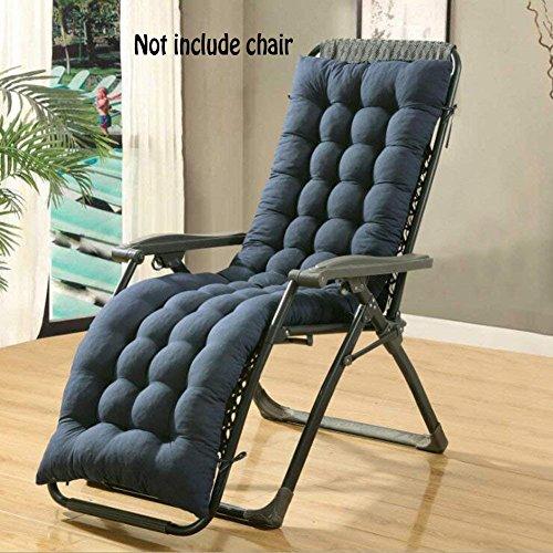 Auflage für Sonnenliege, Liegestuhl oder Stuhl, dicker Bezug für den Außengebrauch, blau, 160*48*8CM