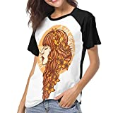 Gordon M Albers Florence and The Machine Women Baseball T Shirt Round Neck Tops Casual Shirt Black