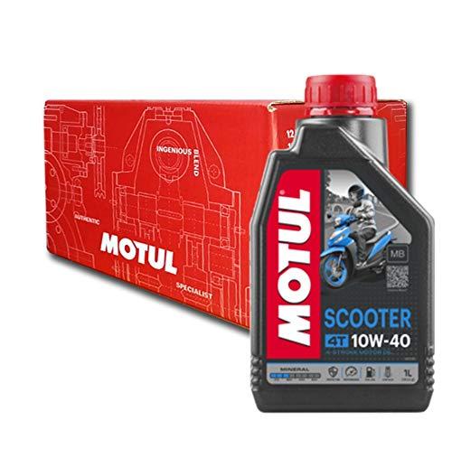 Aceite Moto Motul Scooter 4T 10W40 Mineral - 8 x 1 l