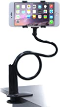 Universal Cell Phone Holder, 4326547903 Lazy Bracket Mobile Phone Stand, Flexible Gooseneck Long Arm Clip, Screw-Down-Fixed Bolt Clamp Style by AUXO-FUN (Black)