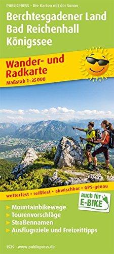 Berchtesgadener Land, Bad Reichenhall, Königssee: Wander- und Radkarte mit Ausflugszielen & Freizeittipps, wetterfest, reißfest, abwischbar, GPS-genau. 1:35000 (Wander- und Radkarte / WuRK)