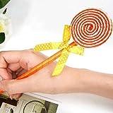 Kcopo Lollipop Stift Kugelschreiber Kinder Spielzeug Süße Schule 20cm Briefpapier Stift Schreibwaren Für Schule 5 Stück Zufällige Farbe