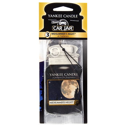 Yankee Candle Car Jar 3er Bonus-Pack, Midsummers Night, Autoduft, Duft Aufhänger, Raum Erfrischer, 1114285
