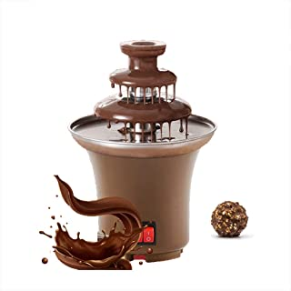 VANRA 3 Tiers Chocolate Fountain Mini Hot Chocolate Fondue Pot Electric Melting Machine 1.5-2 Pound