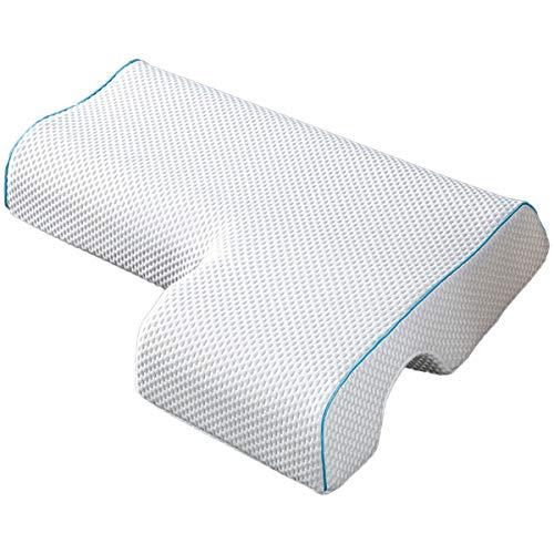 LAOSHIZI Almohadas estándar Almohada para Parejas Almohada de Abrazo arqueado con Espuma de Memoria de Rebote Lento Almohada de Pareja (Izquierda)