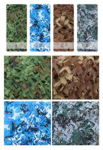QX Pengbu Iaizi camouflage-net, voor buiten, zonnescherm, decoratie, net, groen 10 * 10m C