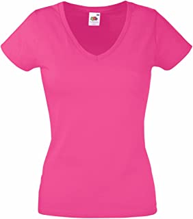 9e6281cb Fruit of the Loom Lady-Fit Valueweight V-Neck T-Shirt SS047