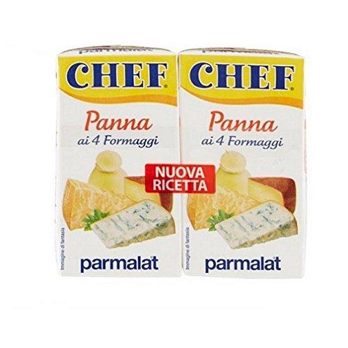 Parmalat Panna chef Sahne 4 formaggi per cucinare Kochcreme creme mit 4 Käse 2x125g
