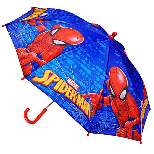 alles-meine.de GmbH Regenschirm -  Ultimate Spider-Man - Marvel  - Kinderschirm Ø 70 cm / groß Stockschirm mit Griff - Kinder - Regenschirme - für Jungen Mädchen - Schirm Kinde..