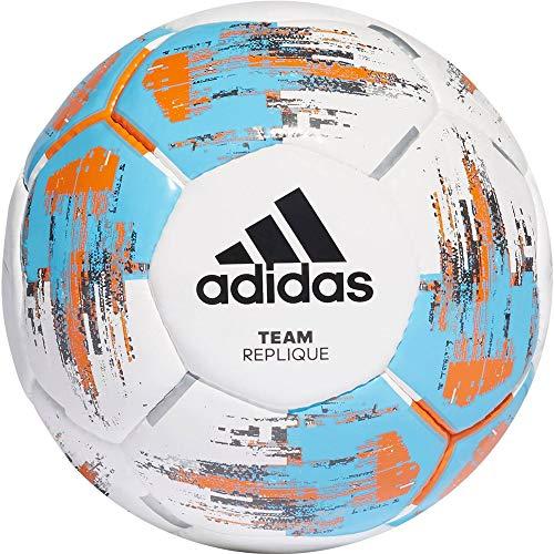 adidas Jungen Team Replique Turnierbälle für Fußball, White/Bright Cyan/Bright orange, 5