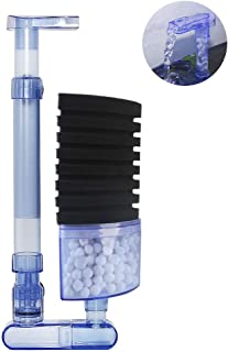 boxtech Aquarium Filter, Aquarium Biochemical Sponge Filter Quiet Submersible Foam Filter for 10-20 Gallon Fish Tank Fresh Water/Salt Water