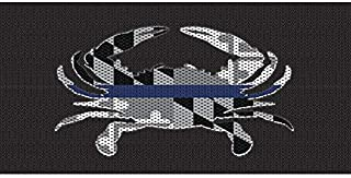 Under the Sun Inserts Jeep Wrangler Front Grille Insert - Rust Proof Aluminum - Fits Jeep Wrangler JL/JT - Maryland Crab Blackout Thin Blue Line Design