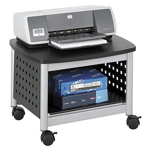 Safco - Supporto per Stampante al di sotto della scrivania Scoot - Nero