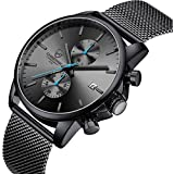 Mens Watches Chronograph Stainless Steel...