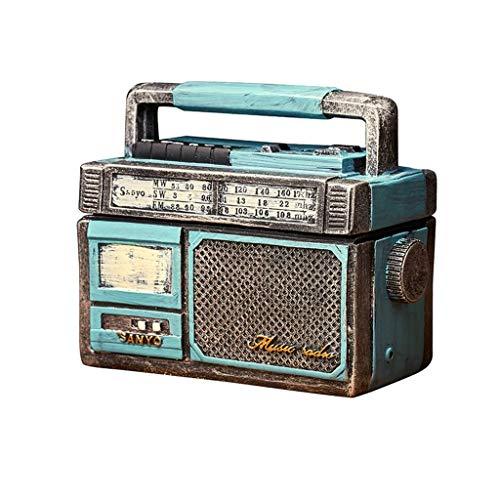 Radio de cigarros Vintage, a Prueba de Viento con Tapa para decoración de Oficina en casa o al Aire Libre, se Puede administrar a los Amigos (Azul, Rojo) Interior (Color: Rojo, tamaño: pequeño) YXF99