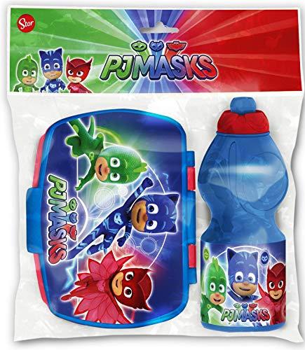 PJ Masks 701976 - Juego de fiambrera y botella, multicolor