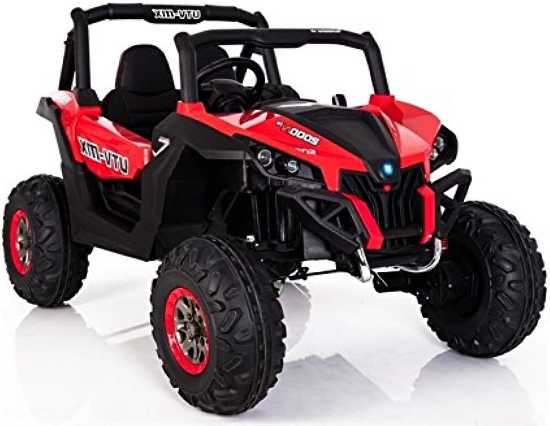 servicio honesto Coche Electrico para Niños Auto Alimentado con Batería Batería Batería Vehículo Eléctrico Control Remoto - Jeep XMX - Rojo  buen precio