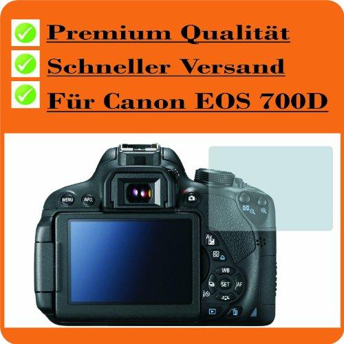 4ProTec I 2X Bildschirmschutzfolie Displayschutzfolie KRISTALLKLAR von für Canon EOS 700D