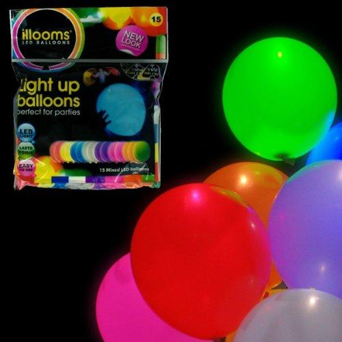 Lichtgevende LED ballonnen set met 15 stuks bruiloft verjaardag kleurrijke mix met LED