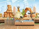 Fotomural Vinilo para Pared Poblado Indio | Fotomural para Paredes | Mural | Vinilo Decorativo | Varias Medidas 150 x 100 cm | Decoración Habitaciones | Infantiles