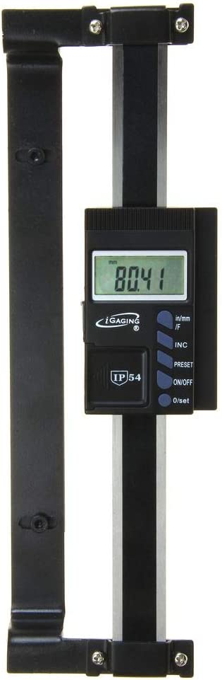 """iGaging Digital Readout (DRO) and Quill Kit Mounting Bracket for Bridgeport Type Mills 6"""" Travel Inch/mm/Fractions"""