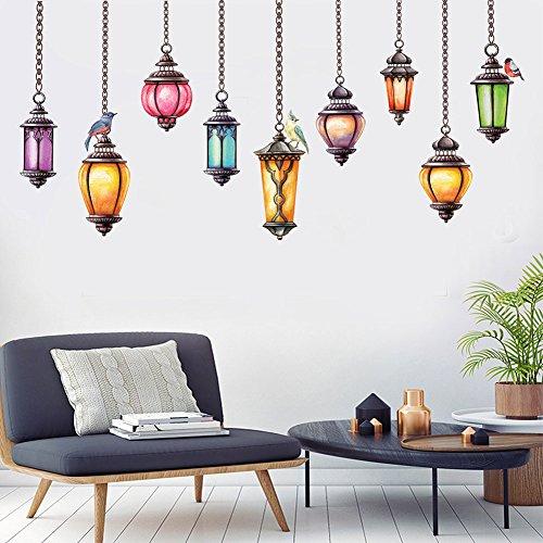 Bodhi2000 - Adhesivo decorativo para pared, diseño de lámpara de techo, para salón, dormitorio, sofá, TV, fondo de pared