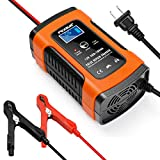 Battery Charger Automotive 12V 5A Smart Battery Maintainer Trickle Charger for Car Boat Motorcycle Lawn Mower Marine Sealed Lead Acid Battery and More