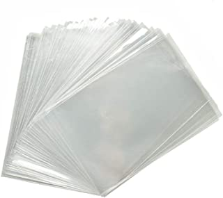 HAZOULEN 200 Pack Clear Party Favor Bags for Small Candy Cookie Soap Cake Pops, 3-3/5 Inch x 6 Inch