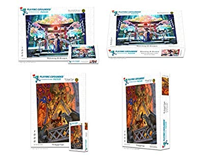 Playing Grounded Limited Edition 1000 Piece Jigsaw Puzzle Bundle Pack The Gargoyle Keeper and Welcoming All Wonders Double Pack Anime Puzzles Fantasy Puzzles, Japanese Jigsaw Puzzle by Playing Grounded, Ltd.