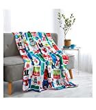 MAINSTAYS Micro Plush THROW BLANKET Christmas Patchwork Size 50 in X 60 in ( 127 cm X 152 cm )