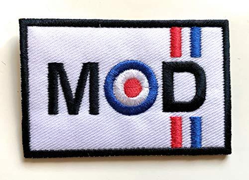 Parche bordado para planchar MOD Target British Scooter Lambretta Vespa Badge