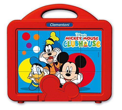 Clementoni-La Casa di Topolino Mickey & Friends Puzzle Cubi, 12 Pezzi, 41344