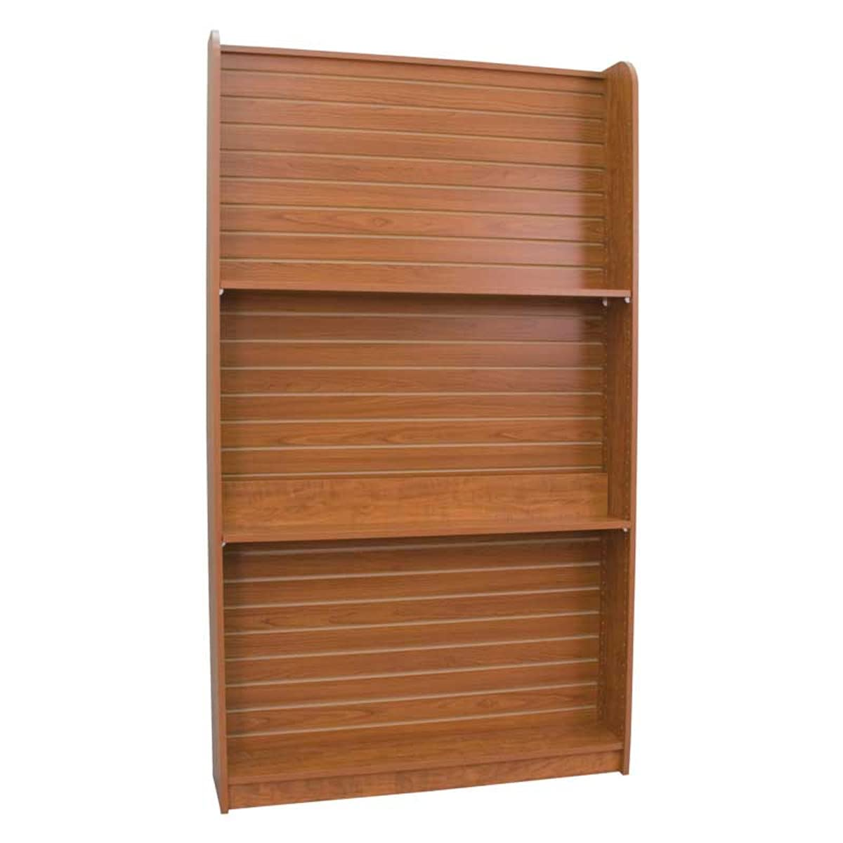 Wall Book Case with Cherry Slatwall Slotting Wx 48 List price Max 55% OFF 84 H Measures