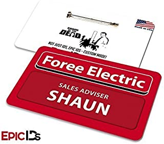 Shaun of the Dead Foree Electric Name Badge w/Bar Pin (Clean Variant)