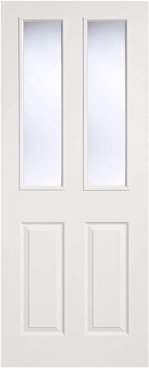 LPD White Moulded Internal Glazed Door 2-Panel 2L 78x27inch 1981x686x35mm