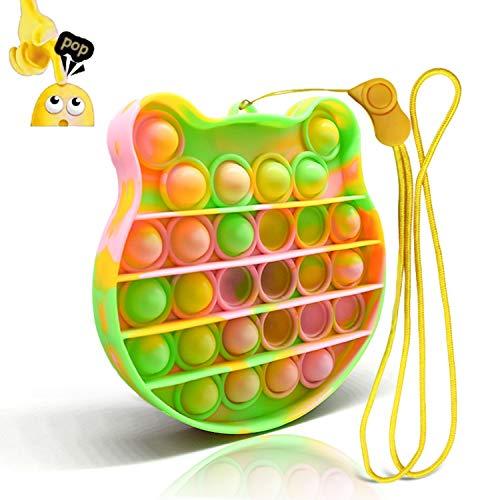 Uni-Fine Burbuja Sensorial Fidget Juguete,Empujar Pop Pop Burbuja Sensorial Fidget Silicona Sensorial Fidget Juguete Pop It Fidget Toy Push Pop Pop Fidget Toy Push Bubble Sensorial Fidget Toy