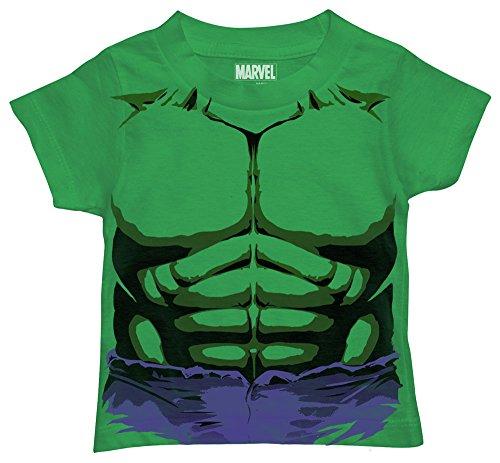 Marvel Toddler Boys' Hulk T-Shirt, Purple Shorts Kelly Green, 3T