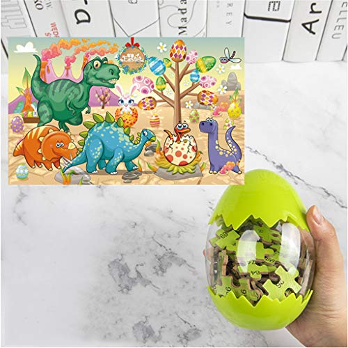 Hohaski Dinosaur Puzzle, Wooden Puzzles 60 Pieces Puzzles for Kids 3 Years+Dino Toys Boy, Christmas Ornaments Advent Calendar Pillow Covers Garland Tree Skirt Gift Bags DIY