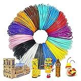 PLA de filament de stylo 3D, Filament PLA 1.75mm, 16 couleurs, 5M chacun, 3D Print Filaments pour Enfants Filamant de Crayon 3D pour Dessin