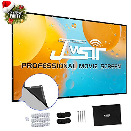 Projector Screen 150 inch, Upgraded 3 Layers PVC 150 inch 16:9 HD Portable Projector Screen, Premium Indoor Outdoor Movie Screen Anti-Crease Projection Screen for Home Theater Backyard Movie
