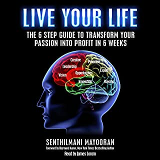 Live Your Life     The 6 Step Guide to Transform Your Passion into Profit in 6 Weeks              By:                                                                                                                                 Mayooran Senthilmani                               Narrated by:                                                                                                                                 James Loram                      Length: 1 hr and 42 mins     2 ratings     Overall 4.0