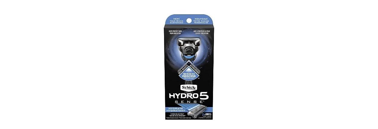 役割文明略奪Schick Hydro5 Sense Hydrate 1 handle + 2 razor blade refills シックハイドロ5センスハイドレート1個+剃刀刃2個 [並行輸入品]