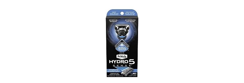 土砂降り優雅ガムSchick Hydro5 Sense Hydrate 1 handle + 2 razor blade refills シックハイドロ5センスハイドレート1個+剃刀刃2個 [並行輸入品]