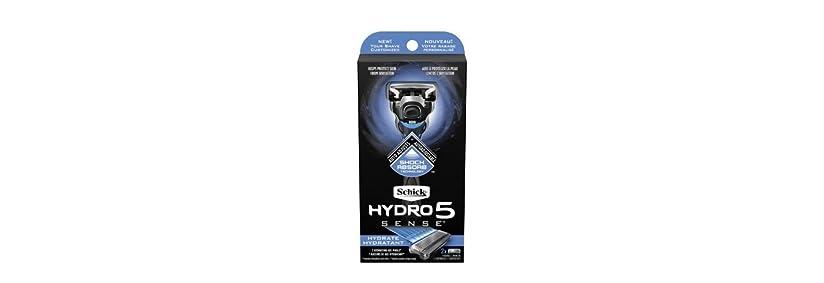 不毛の防腐剤中止しますSchick Hydro5 Sense Hydrate 1 handle + 2 razor blade refills シックハイドロ5センスハイドレート1個+剃刀刃2個 [並行輸入品]