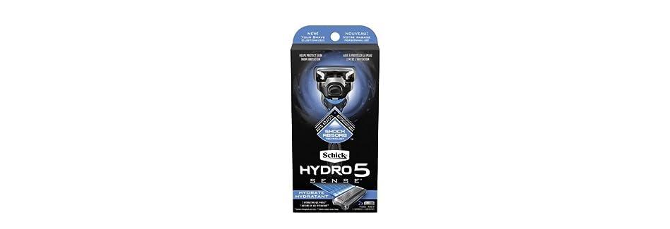 反対にツーリストスケッチSchick Hydro5 Sense Hydrate 1 handle + 2 razor blade refills シックハイドロ5センスハイドレート1個+剃刀刃2個 [並行輸入品]