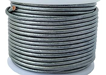 Cords Essentials Round Genuine Leather String Cord Rope for Jewelry Making Necklaces Bracelets Kumihimo Braiding Wraps Crafts and Hobby Projects  Metallic Gray 2.0 MM