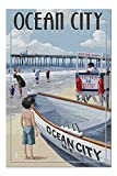 Ocean City, New Jersey, Lifeguard Stand 45116 (19x27 Premium 1000 Piece Jigsaw Puzzle for Adults, Made in the USA!)