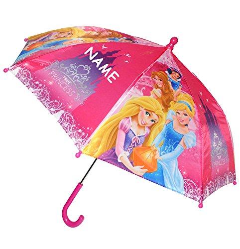 alles-meine.de GmbH Regenschirm -  Disney Princess - Prinzessin  - incl. Name - Kinderschirm Ø 70 cm - Kinder Stockschirm - Schirm / Kinderregenschirm - für Mädchen - Rapunzel ..